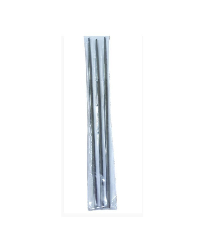"""Rotatech 7/32"""" Round Chainsaw Files Pack Of 3"""